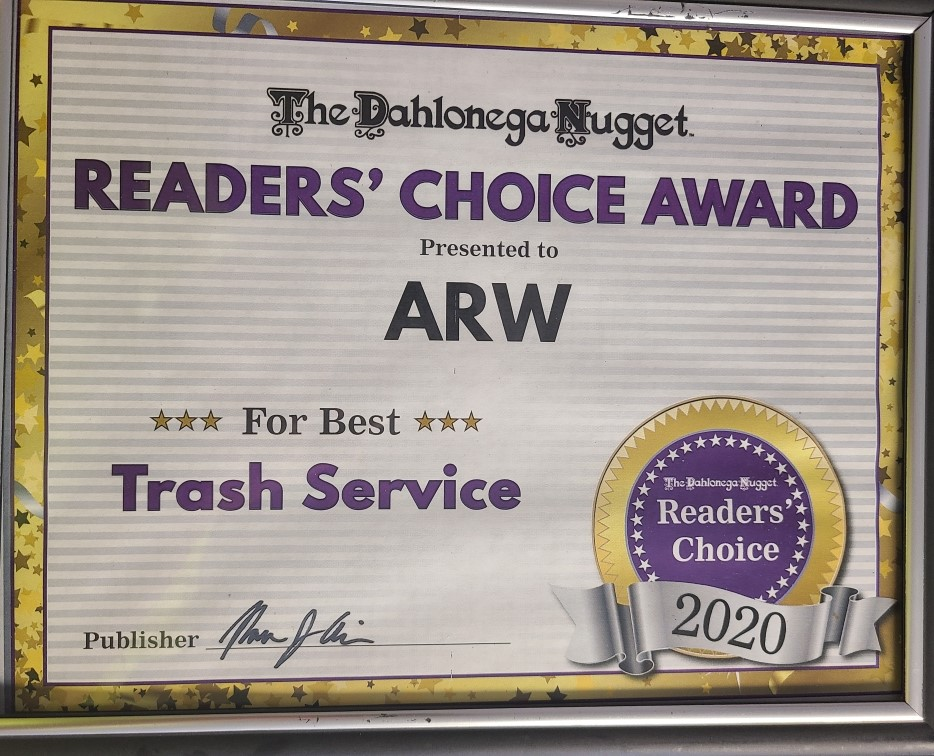 Dahlonega Nugget Reader's Choice Award